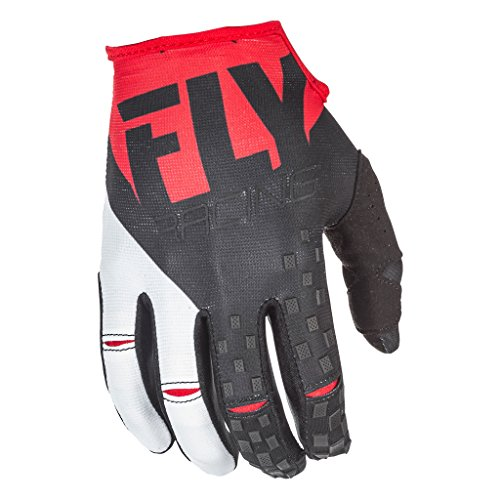 Fly Racing Men's Kinetic Gloves (Red/Black, Size 4)