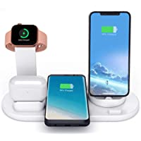 Wireless Charger, LIONAL 4 in 1 Charging Station, Charging Dock for AirPods, Watch Stand for Apple Watch, Qi Fast…