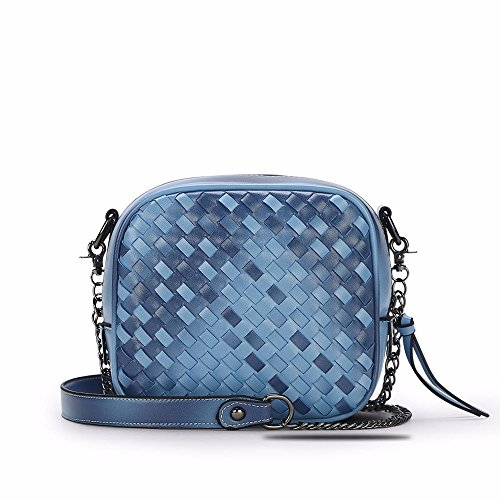 New Casual Bag Shoulder Woven Casual Blue Messenger Bag New PwqxUfd7f