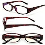 MIDI Square Tortoise Reading Glasses for Women (M-207N) Designed in Japan / Fine Spring Hinge for Comfort fit / Available in 3 Chic Colors (+1.00, Tortoise Red)