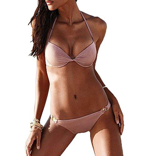 donne da Swimwear Rosa costume Bikini Cliont verso sexy l'alto bikini Swimsuit bagno spinge imbottito dqBH1