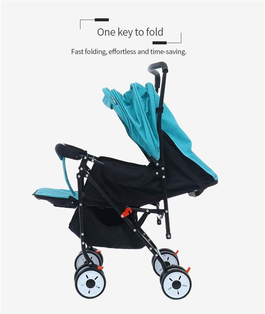 HBIAO Buggy mit klappbar Leichter Kinderwagen mit 5-Punkt-Sicherheitssystem und Multi-Position Reclining Seat,Blue
