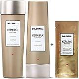 Goldwell Kerasilk Control Set - Shampoo 250ml + Conditioner 200ml + Smoothing Fluid Sachet 7ml