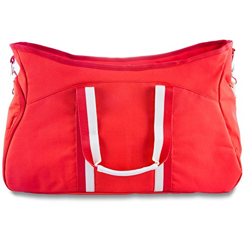 The Michelle by j/fit - Yoga Mat Tote Bag - Red (J Fit Yoga Mat Shoulder Tote)