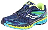 Saucony Women's Guide 8 Running Shoe,Blue/Navy/Yellow,10 M US