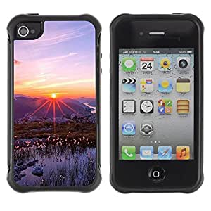 "Hypernova Defender Series TPU protection Cas Case Coque pour Apple iPhone 4 / iPhone 4S [Naturaleza Hermosa Forrest Verde 83""]"
