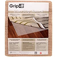 Grip-It Ultra Stop Non-Slip Rug Pad for Rugs on Hard Surface Floors, 2 by 4-Feet, Natural