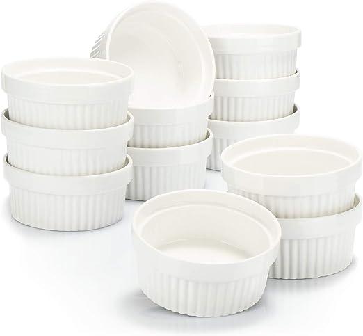 Moldes para soufflé COM-FOUR® 12x - cuencos de cerámica para creme ...