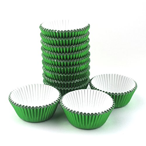 Xlloest Premium Mini Foil Baking Cups, Cupcake Liners Paper, Pack of - Foil Baking Cups Mini