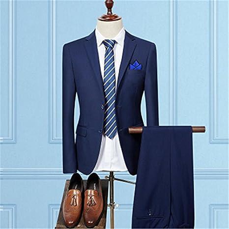 794a8bc666 YHNSXZ Blazer Blazers Pantaloni Set Uomo/Moda Uomo Slim Stile Sposo ...