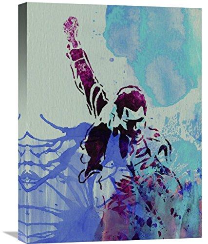 "Naxart Studio Freddie Mercury Watercolor Giclee on canvas, 18"" by 1.5"" by 24"" from Naxart Studio"