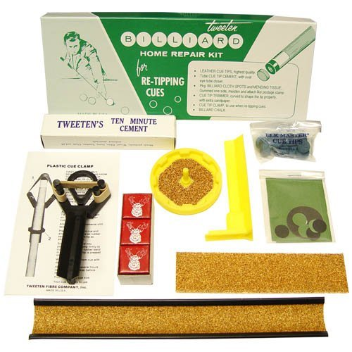 Tweeten's Cue Repair Kit For Fixing Pool Cue Tips