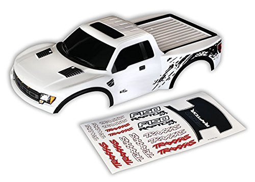Traxxas Raptor White Body for Slash with Decals & Body Clips