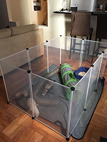 Koossy Expandable Small Animals Plastic Playpen Cage
