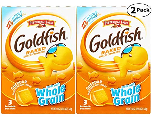 Pepperidge Farm Goldfish, Baked with Real Cheese Snack Crackers, Cheddar Flavor - 3.62 LB x 2 Pack - Total 7.24 LB by Pepperidge Farm