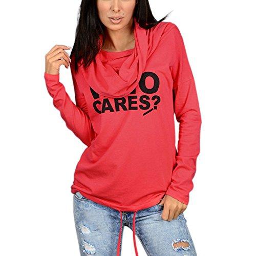 Moresave - Sudadera - universidad - para mujer Rosso