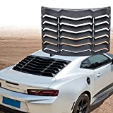 Yoursme Rear Window Louvers Matte Black Sun Shade Windshield Cover in Lambo Style for 2016 2017 2018 2019 Chevy Chevrolet Camaro