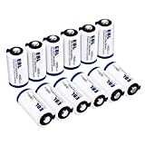 EBL CR123A 3V Lithium Batteries(12 Pack) High Performance Non-Rechargeable Battery for Arlo Cameras, Polaroid, Microphones, Flashlight [CAN NOT BE RECHARGED]