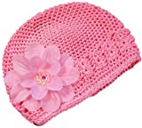 Claribel Flower Crochet Baby Hat By Funny Girl Designs ----- Many Colors Available