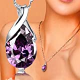 Fashion Brand Natural Crystal Amethyst Healing Point Chakra Bead Stone Pendant for Necklace
