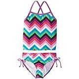 Kanu Surf Big Girls' Olivia Tankini Swimsuit, Pink/Multi, 10