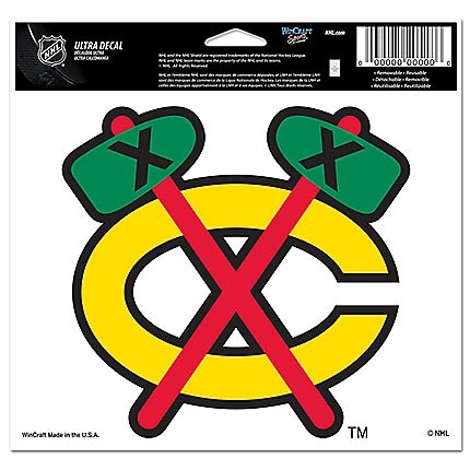 WinCraft NHL Chicago Blackhawks 77438011 Multi-Use Colored Decal, 5