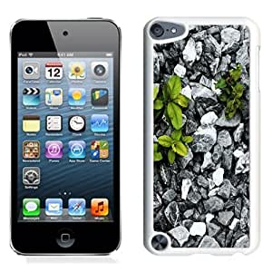 NEW Unique Custom Designed iPod Touch 5 Phone Case With Plants Between Stones_White Phone Case