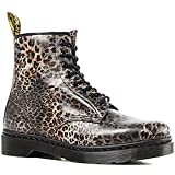 Dr. Marten's Women's 1460 8-Eye Patent Leather Boots, Leopard Print, 4 F(M) UK / 6 B(M) US Women / 5 D(M) US Men