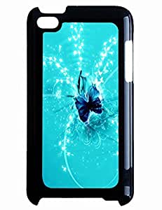 Hard Cover Case Blue Butterfly for Ipod Touch 4th