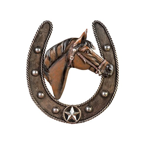 Collections Etc Western Iron Horseshoe Wall Art Decor