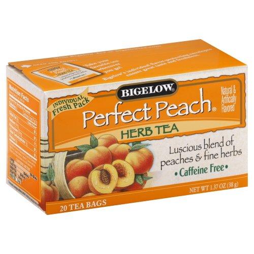 Bigelow Perfect Peach Herbal Tea 20 tea bags - Caffeine Peach Free Tea