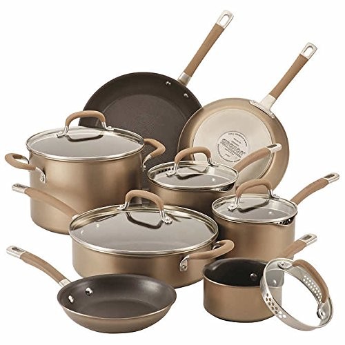 Circulon Premier Professional 13-piece Hard-anodized Cookware Set Stainless Steel Base ()