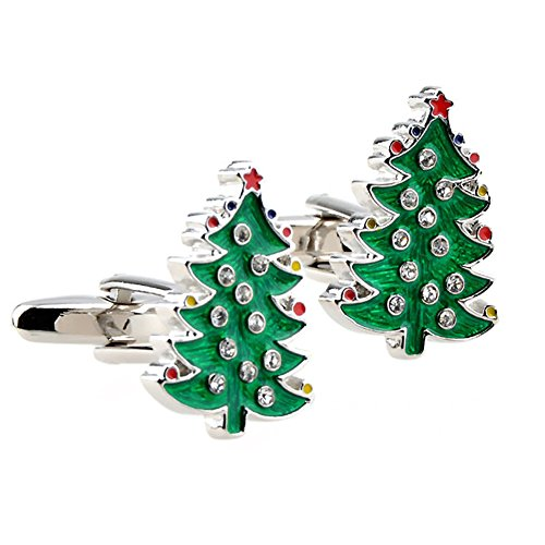Christmas Tree Cufflinks - The smith's eshop Green Christmas Tree Shaped Cufflinks