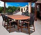 Amazonia Bahamas 9-Piece Eucalyptus Oval Dining Set