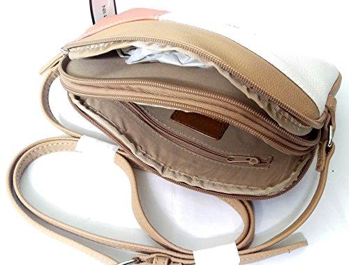 White Pink Crossbody Smooth Nine Chesnut West Soft Women's Handbag Blocking wqzZT1qa