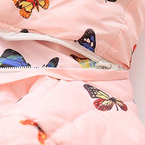 Elegante Butterfly Hooded Morwind Cappotto Bambino Giacca Ragazzi Cappotto Pink Caldi Spessa 2 Mantello 1 Giacca Cappotto Autunno 4 Bambina Invernale Anni Inverno 3 Bimba Elegante Vestiti Ragazze 5qnnTUfw