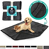 PetAmi Premium Pet Blanket for Dog, Cat, Puppy, Kitten | Plush Pet Fleece Blanket for Medium & Large Dogs | Reversible, Warm, Sherpa Microfiber Throw – 40 x 50 Inches
