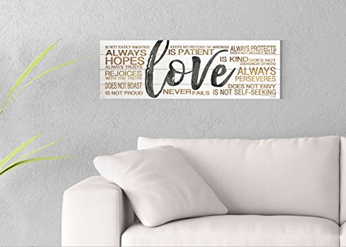 Love Printed on 30x10 Canvas Wall Art by Pennylane