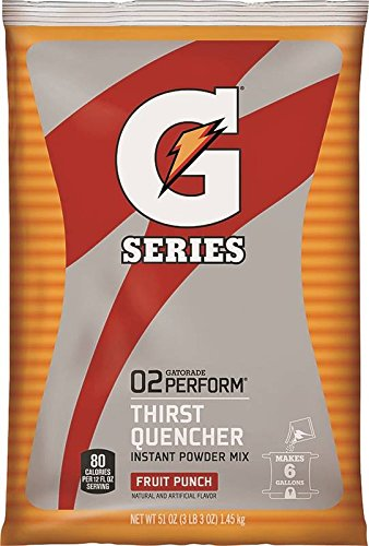 14/PACK QUAKER OATS 33690 FRUIT PUNCH 6 GALLON SIZE GATORADE INSTANT POWDER by Gatorade