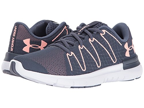 new york 2c95f 88b9d Under Armour Women's Thrill 3 Apollo Gray/White/Pink Sands Athletic Shoe