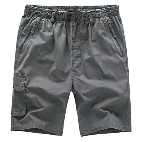 (Corriee 2019 Most Wished Mens Summer Work Pants Men's Casual Solid Color Outdoor Shorts with Pockets Cargo Trousers Gray)