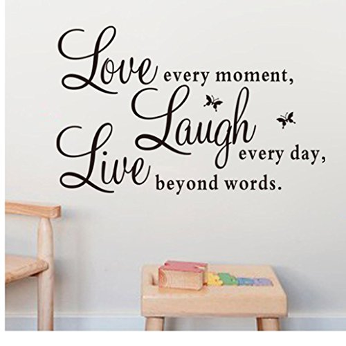 clearancecanserin live every momentlaugh every daylove beyond words wall sticker - Home Decor Clearance