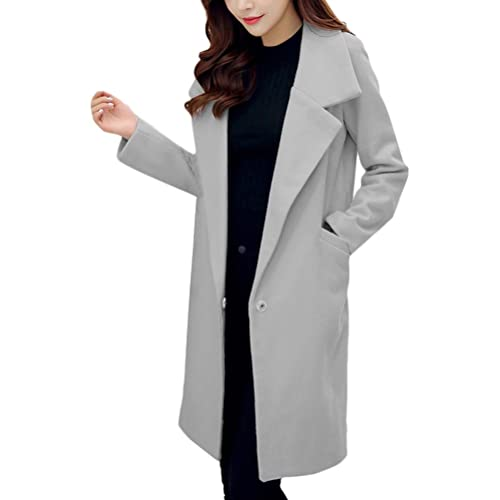 Zhhlaixing Autumn Winter Korean Coats Loose Button Buckle Long Faux Woolen Cardigans Mujeres Abrigo ...