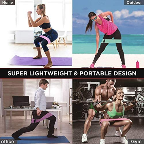 Details about  /Resistance Bands Pattern Hip Booty Leg Exercise Elastic For Gym Yoga Workout
