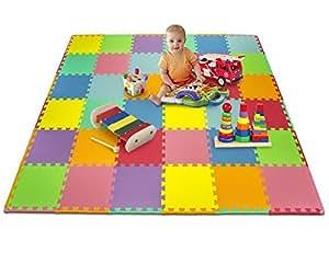 Amazon.com: Matney Foam Mat Puzzle Piece Play Mat Set