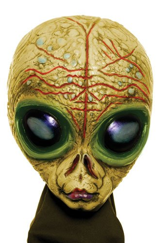 Gold Shadow Alien Scary Sci-Fi Halloween Costume Mask]()