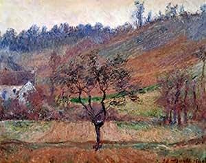 Claude Monet – Le Val De Falaise 1885 Claude Monet (1840-1926 French 29 X 36.5 in) Oil on canvas Private Collection Artistica di Stampa (60,96 x 91,44 cm)