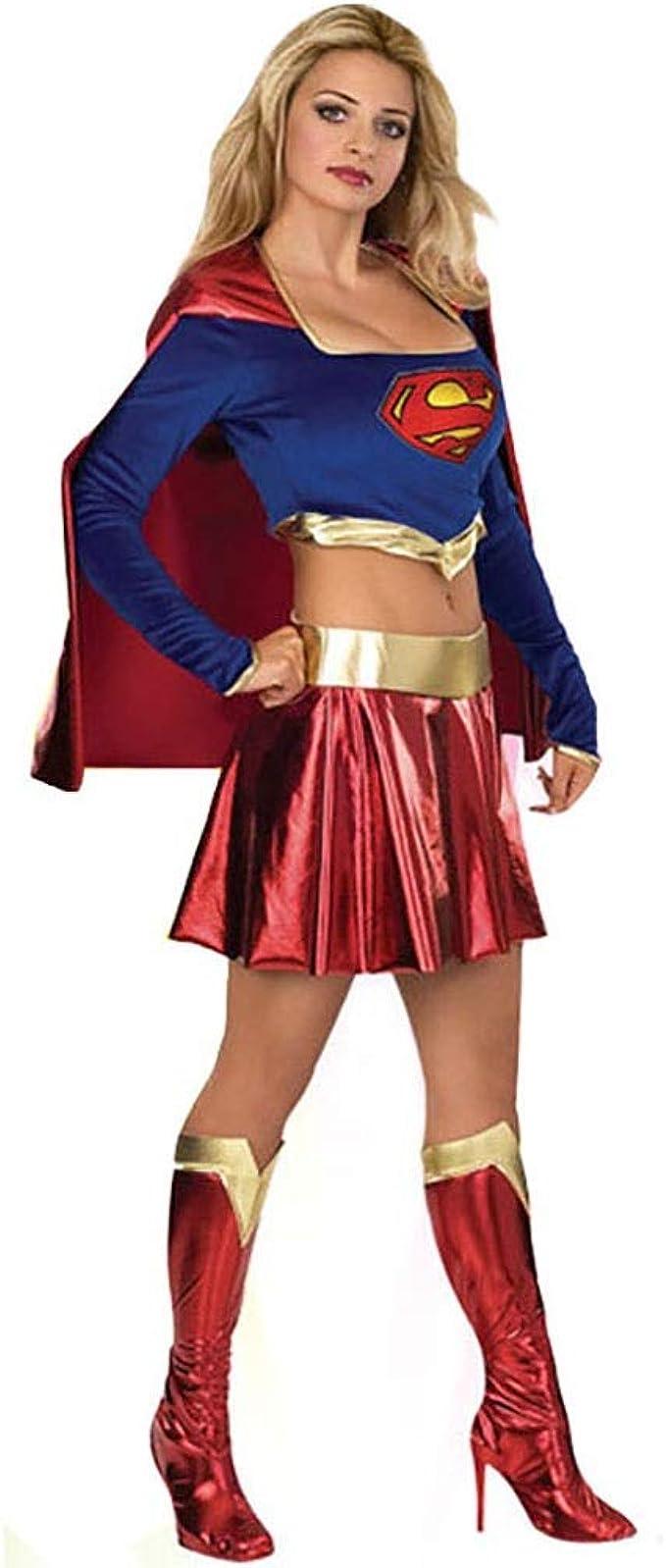 希倍朦 Disfraz de Halloween Sexy Capa de Capa Superwoman Traje ...