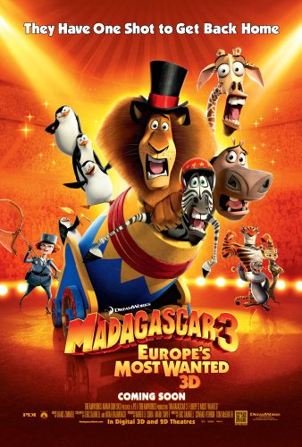 MADAGASCAR 3 EUROPE'S MOST WANTED MOVIE POSTER 2 Sided ORIGINAL INTL ORANGE Ver 27x40 (Madagascar Movie Poster)