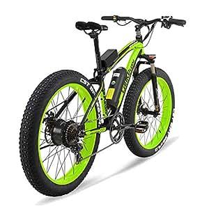 MERRYHE Bicicleta Eléctrica 500W 26 Pulgadas Fat Tire Bicicleta De Montaña Bicicleta De Nieve 48V-